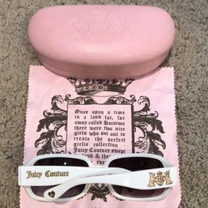 Juicy Couture White Sunglasses